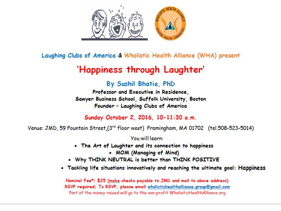 Sushil Bhatia Presents Happiness Through Laughter